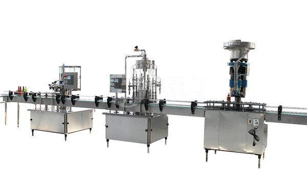 1 litr skleněné láhve plnění uzávěru a označování stroj