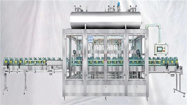 Vážicí rotační plnicí stroj pro mazací oleje