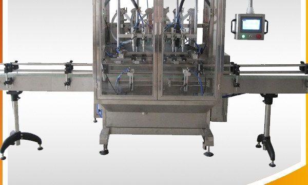 Automatické přetečení gravitační láhev plnění tekutin stroj