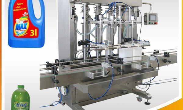 Plně automatický pístový stroj na plnění kapalin s dvojitou hlavou
