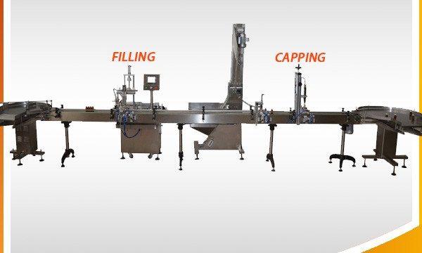 Stroj na plnění rostlinného jedlého oleje