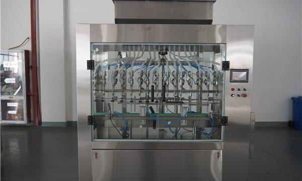 Automatická plnička kapalin s atmosférickým tlakem s 12 hlavami