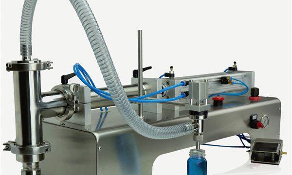 Plnicí stroj s pneumatickým ovládáním mazacích olejů s dvojitou hlavou