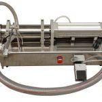 Poloautomatický stroj na plnění tekutých medů s vysokou viskozitou