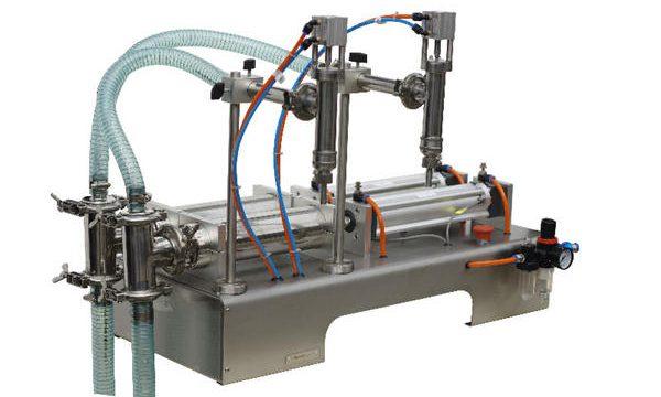 Poloautomatický stroj na plnění tekutého mýdla