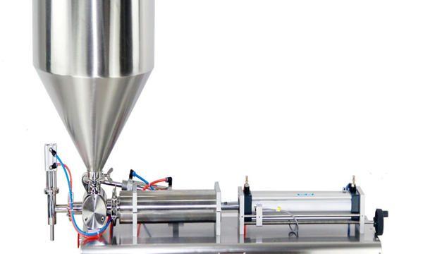 Poloautomatický plnící stroj na pístové jarové krémy