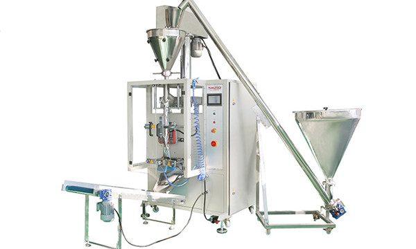 Vertikální automatické plnění a uzavírání prášku