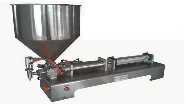 Jednohlavý poloautomatický vertikální pastový plnící stroj